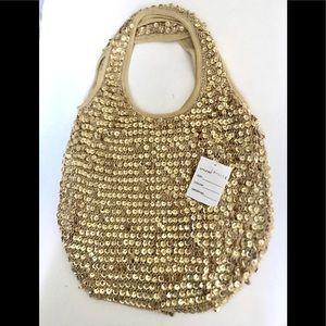 NWT Vintage Sequins Tote Bag.